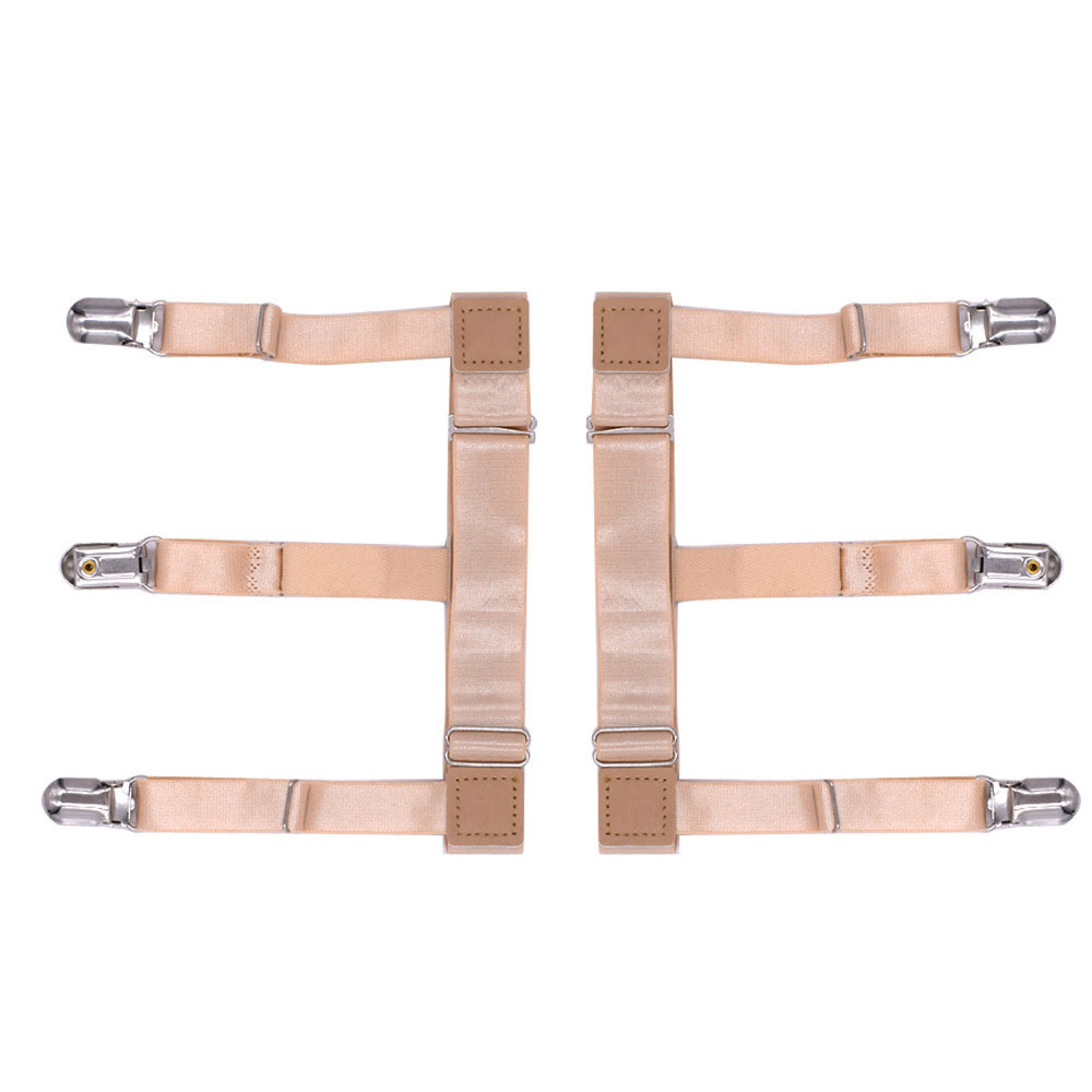 Apparel Accessories New Hot Mens Shirt Stays Holder Garters Belt Suspender Braces Leg Thigh Elastic Tirantes 1pair Flesh Color Shirt Suspender Suitable For Men And Women Of All Ages In All Seasons Men's Suspenders
