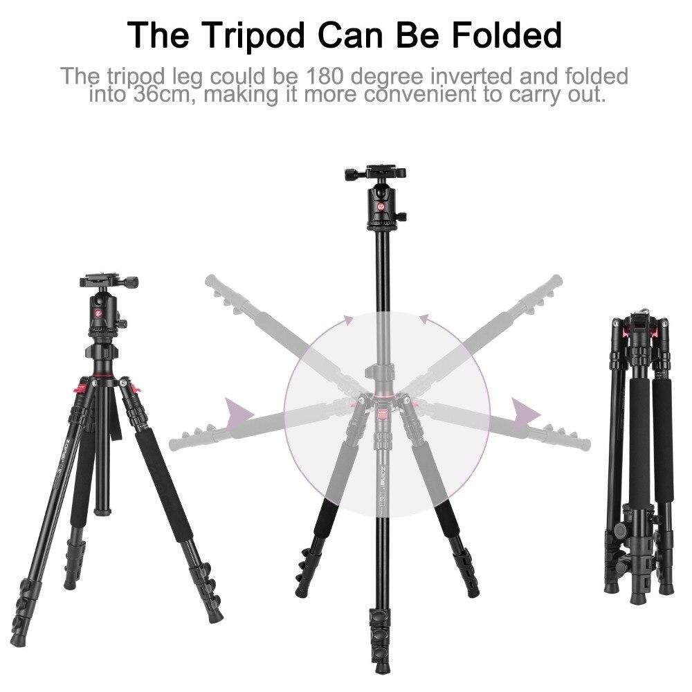 ZOMEI M3 Camera tripod Lightweight Stand Monopod Ball Head Quick Release Plate travel Tripode-18