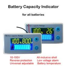 Indicador de capacidad de batería de plomo y ácido, 48V, 60V, 72V, pantalla LCD de potencia, Sensor de temperatura, alarma, comprobador de ácido JS C33 de litio