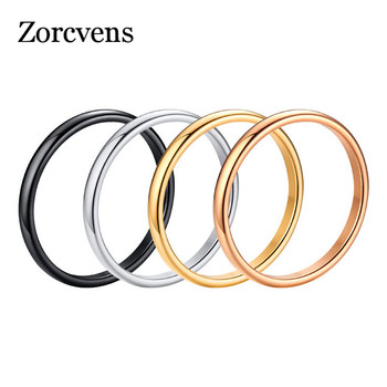 ZORCVENS 2020 New Engagement Ring for Women Simple 316L Stainless Steel Silver Gold Color Finger Girl Gift