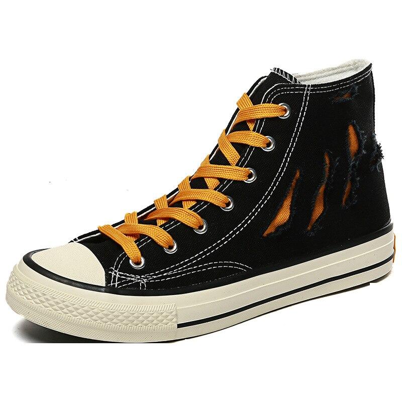 Ankle-Boots Shoes High-Top Men's Espadrone Vintage Casual Denim Stylish Common School-Boys'