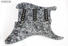 Most Popular New 3Ply Prewired Pickguard SSS w/ Black Pickups Guitar Loaded Pickguard