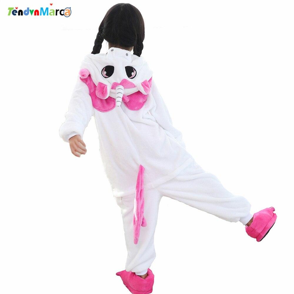 New Baby Boys Girls Pajamas Autumn Winter Children Flannel Animal Funny Animal Pink Unicorn Pajamas Kid Onesie Sleepwear очки женские animal layback girls pink purple