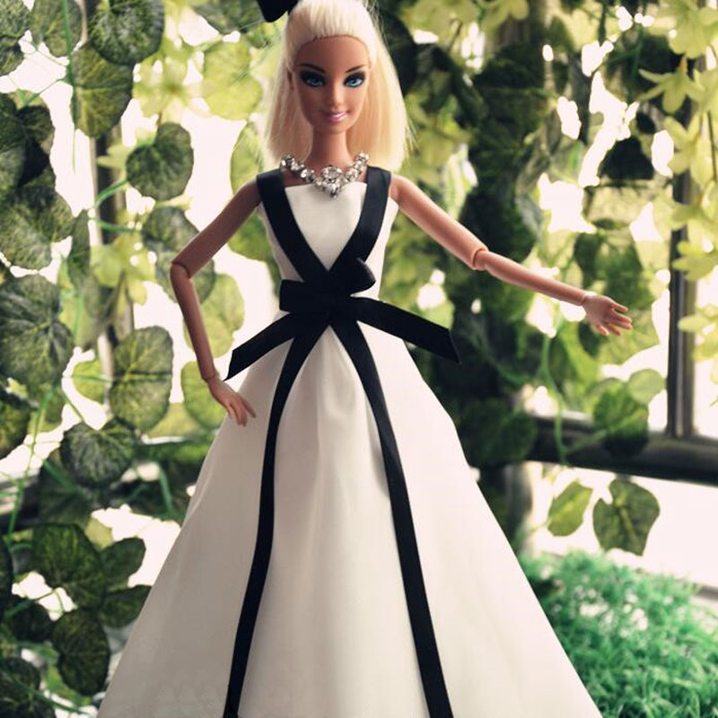 CXZYKING beauty High quality Handmade Gifts For Girls Slim Evening Suit Wedding Dress Clothes For Barbie 1:6 Doll