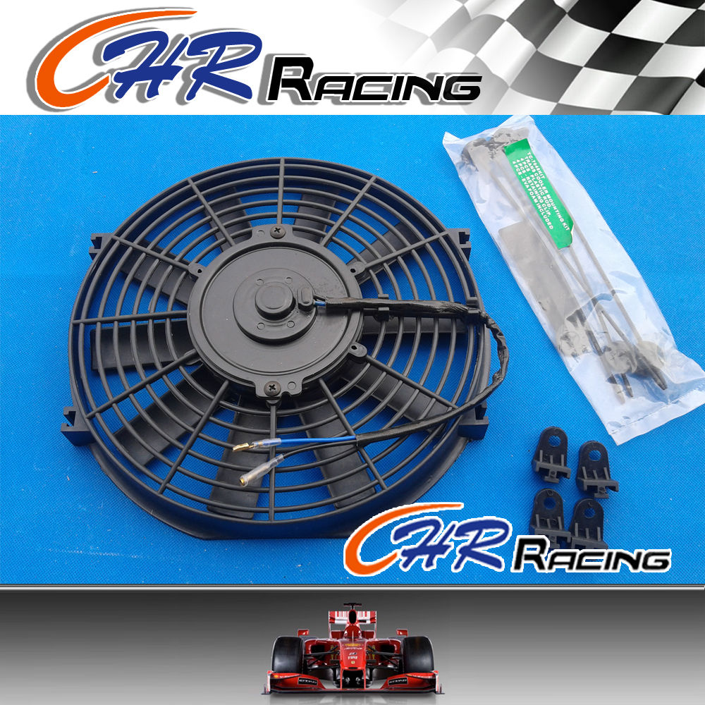 10 Inch 12v Slim Radiator Cooling Thermo Fan With Mounting