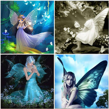Forest Elf Butterfly 5D DIY Diamond Painting Full Square Beads Set Embroidery Cartoon Home Decorations Crystal Cross Stitch Sale
