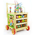 Multifunctional Child Baby Toddler trolley rollover baby big beads around treasure children toy car