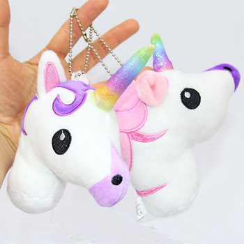 Unicorn Plush Pendant Keychain