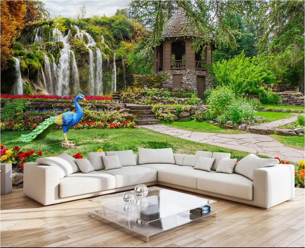 Popular garden wall mural buy cheap garden wall mural lots for Mural garden