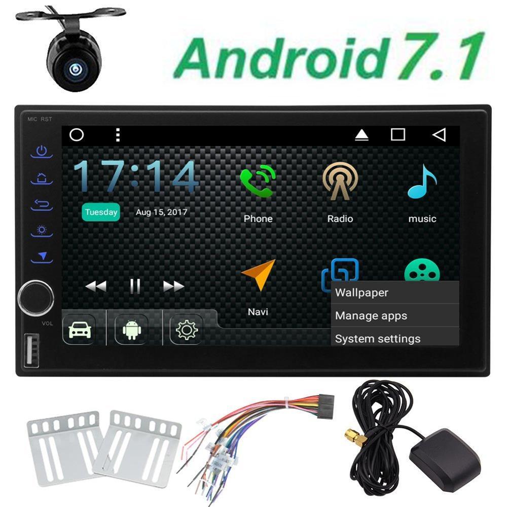 Free backup camera Android 7 1 Octa Core font b Car b font font b Radio