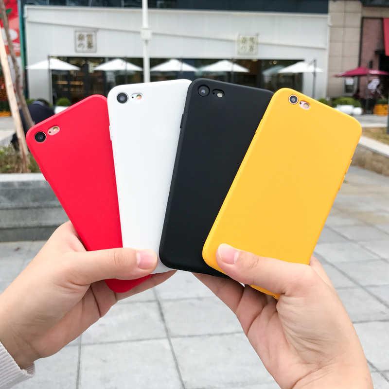 רך מט סיליקון מקרה עבור Huawei P10 P9 P8 P20 P30 לייט פרו כבוד 8X 8C 8 9 10 לייט יוקרה סוכריות חמוד TPU טלפון כיסוי מקרי