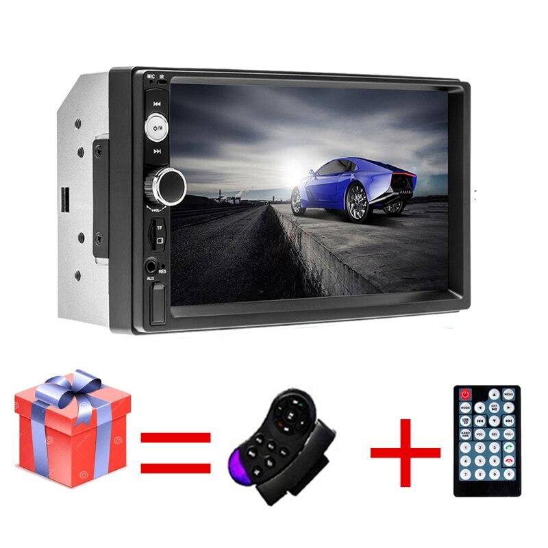 2 Din Car Radio Autoradio 7 HD Multimedia Player 2DIN Touch Screen Auto Audio Car Stereo MP5 Bluetooth USB TF FM Camera