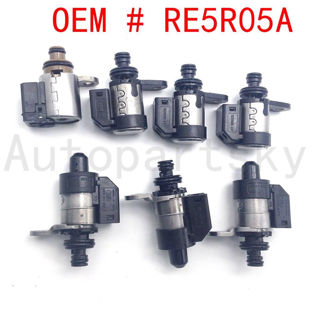 [ Set Of 7PCS] RE5R05A 63431A-U 31941-1FX02 Hi-Power Transmission Solenoid Kits For Nissan Pathfinder 02UP (High Ohm) 2002-2018
