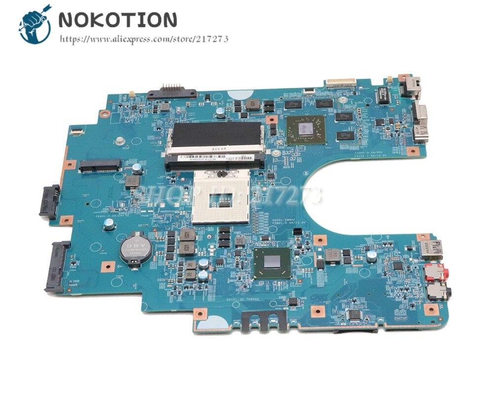 NOKOTION For Sony Sve17 Sve1711 Laptop Motherboard HM76 DDR3 HD7600M GPU A1884314A A1892051A 48.4MR10.021 MBX-267 MAIN BOARD