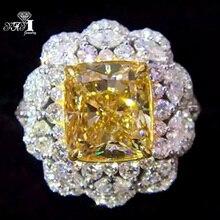 Party Ring Engagement-Rings Yayi Jewelry Wedding Princess Yellow Zircon Christmas-Gifts