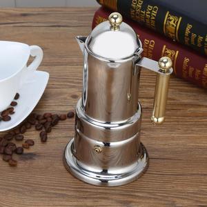 Image 2 - 200ml Stainless Steel Coffee Pot Moka Coffee Maker Teapot Mocha Stovetop Filter Percolator Cafetiere Percolator Tool