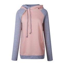 Autumn Winter Hoodie Sweatshirt Women Hooded Sweatshirt Female Hoodies Women Hoody Ladies Plus Size Thicken Sweatshirt Warm Pink 4