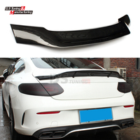 for Mercedes W205 Carbon Fiber Spoiler Rear Trunk Spoiler Tail R Design for BENZ C Class W205 C205 2 door Coupe Only