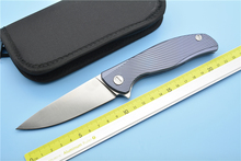 XS EDC-Icebreaker F95 Flipper folding knife D2 blade TC4 Titanium camping hunting pocket fruit knife EDC tools