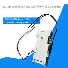 14S 58.8 فولت ليثيوم أيون الذكية بلوتوث BMS مع برنامج إدارة التطبيق ل سكوتر كهربائي من الدراجة بطارية ليثيوم بوليمر مع 20A إلى 60A