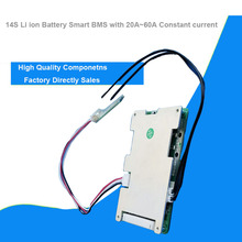 14S 58.8V Li ion Smart Bluetooth BMS with APP software managment for electric scooter of bike battery lipo with 20A to 60A