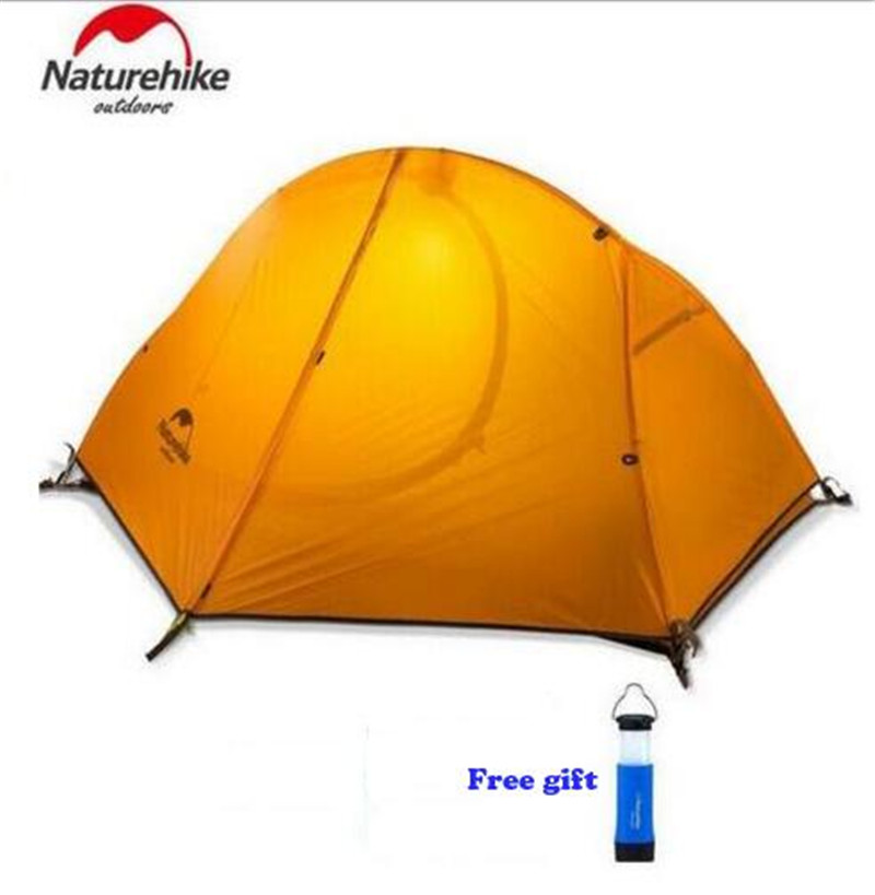 Naturehike Outdoor Travel Camping Tent Ultralight 1-2 Person Four Season Tent Double Layer Waterproof Shelter Camping Equipment naturehike tent camping tent ultralight 1 2 3 person man 4 season double layers aluminum rod outdoor travel beach tent with mat