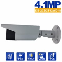 히크 비전 DS-2CD2T42WD-I8 POE IP 카메라 4MP V5.3.3 80 메터 IR 보안 총알 야외 CCTV 카메라 WDR 4 미리메터 렌즈 영어 버전 tera