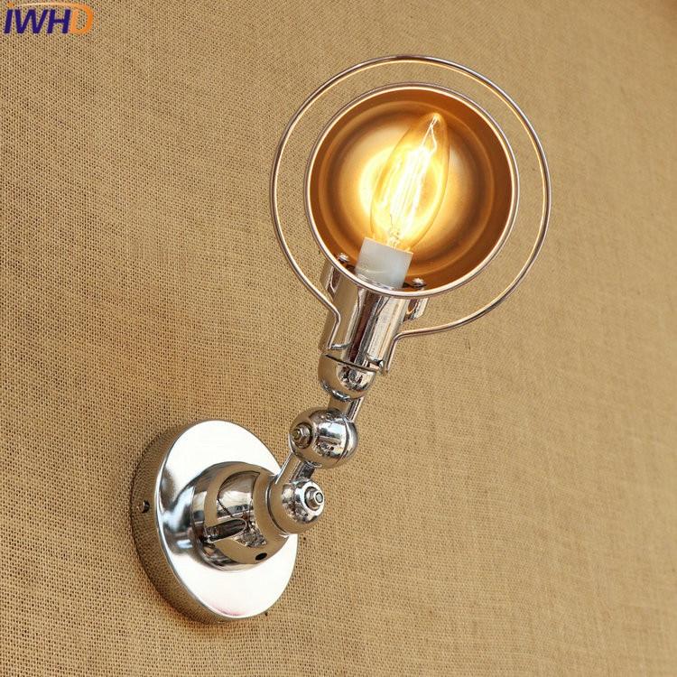 Ajustável LED Longo Braço Oscilante Luminárias Edison