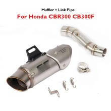CBR300 CB00F Slip on Exhaust Muffler Pipe Tip Tail Pipe Motorcycle Mid Link Connect Tube for Honda CBR300 CB00F CBR 300