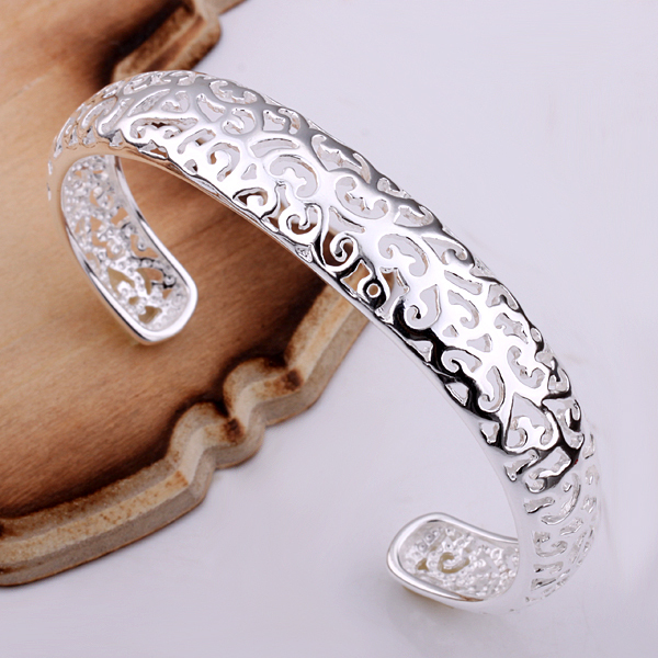 Free Shipping B144/925 Silver Bangle,fashion Jewelry,classic,style,wholesale,nickle Free Antiallergic Bangles factory Price Bracelets & Bangles