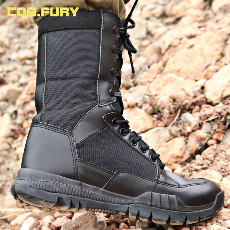 CQB. FURY/осенние мужские военные супер легкие кожаные ботинки-дезерты; удобные армейские ботинки из коровьей замши на шнуровке; size38-46