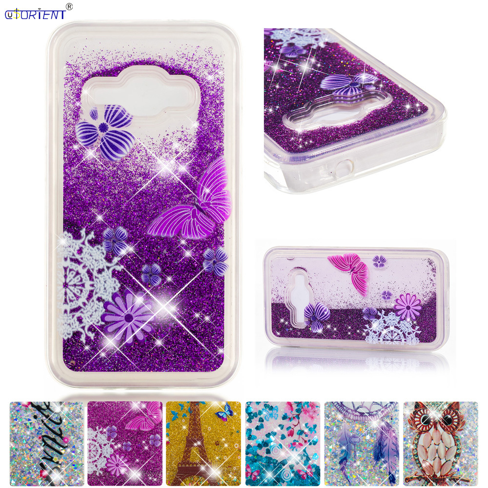 Bling Glitter Phone Case For Samsung Galaxy J1 2016 J16 Dynamic Liquid Quicksand Fitted Cover Sm-j120f/ds Sm-j120fn Sm-j120h/ds Half-wrapped Case Cellphones & Telecommunications