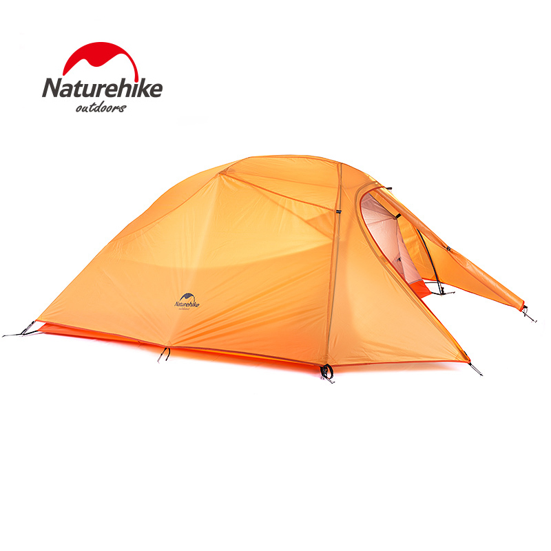 NH Professional 2 person ultralight nylon 210T lattice four season seasons outdoor camping tent with ground mat