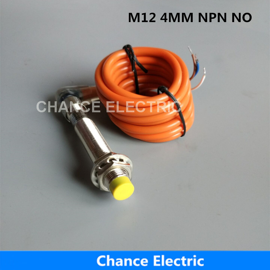 M12 NPN NO 4MM Inductive Proximity Sensor Switch With Bend Connector Detect Distance Non-Flush Proximity Sensor (IM12-4-DNA-C) 3p aviation connector 2 wire dc 6 36v npn no 8mm inductive proximity switch