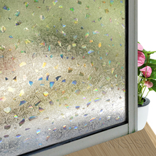 WXSHSH 3D Stain Rainbow Decorative Window Film,Static Cling Privacy Glass Covers heat Insulation Sticker For Home Office
