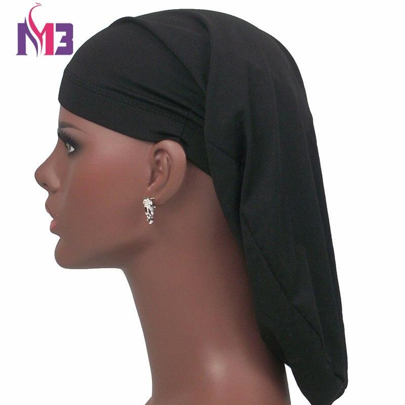 2017 New Unisex Open Back Spandex Strong Elasticity Dreadlocks Braids Cap Bonnet Cap Men Women Long Cylinder Sleeping Cap