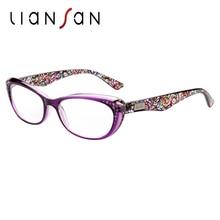 LianSan font b Fashion b font Vintage Plastic Anti reflective Reading Glasses font b Women b