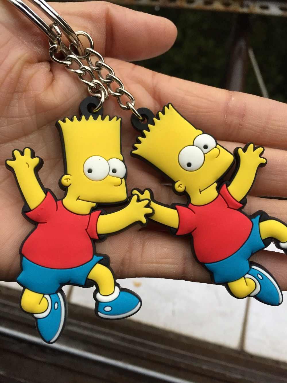 30 cái/lốc pvc The Simpsons keychain llaveros para mujer móc chìa khóa porte khóa của âm nhạc vòng chìa khóa thẻ vỉ quà tặng cho trẻ em túi quyến rũ người đàn ông