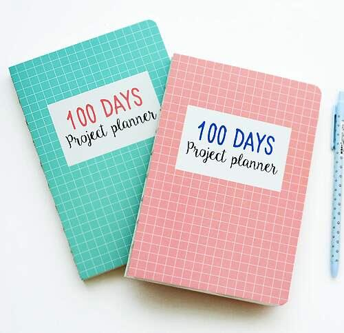 Grid World 100 Days Project Planner Study Agenda Notebook Daily Scheduler Grid Papers Journal Stationery GiftGrid World 100 Days Project Planner Study Agenda Notebook Daily Scheduler Grid Papers Journal Stationery Gift
