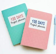 Grid World 100 Days Project Planner Study Agenda Notebook Daily Scheduler Grid Papers Pocket Journal whales town cute any year travel journal daily monthly planner lined grid papers notebook study diary