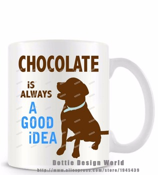 Online shop the dog loves me best funny novelty travel mug 11oz chocolate is always a good idea funny novelty travel dog mug coffee milk tea cup personalized negle Images