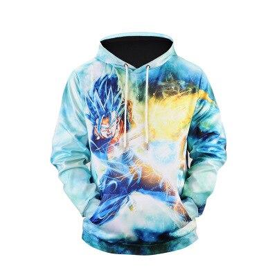 43c3a9da4474 Autumn new foreign trade sells 3D digital 7 dragon ball print hoodie ...