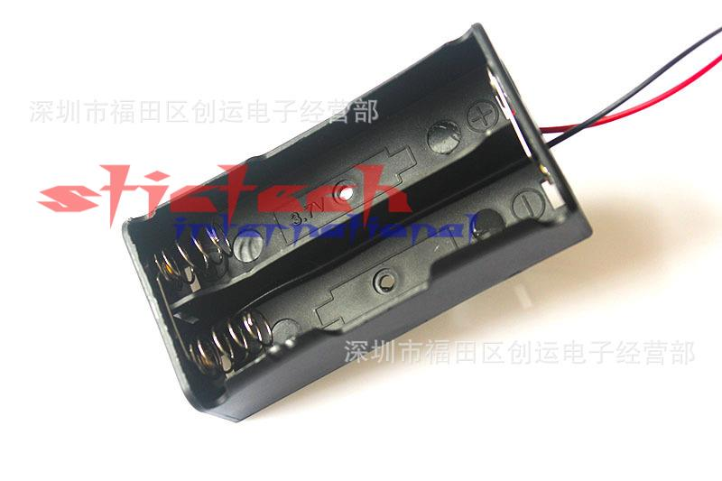 2pcs 2X18650 2*18650 2X3.7V 7.4V Battery Holder Box Case with Wire