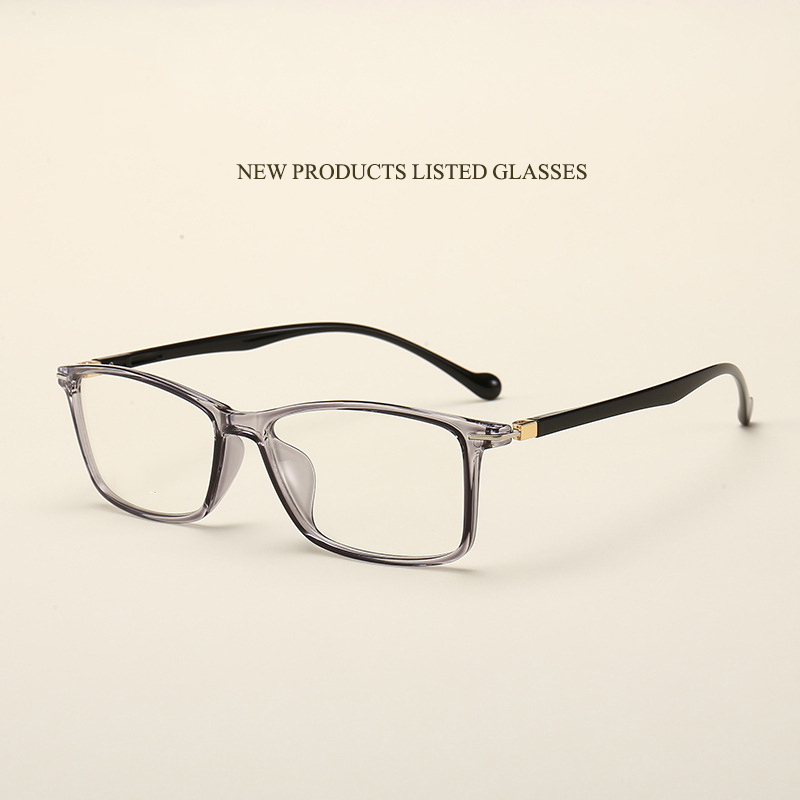 New retro unisex glasses frame fashion ultra light TR90 flat mirror trend students can be equipped with myopia glasses frame.
