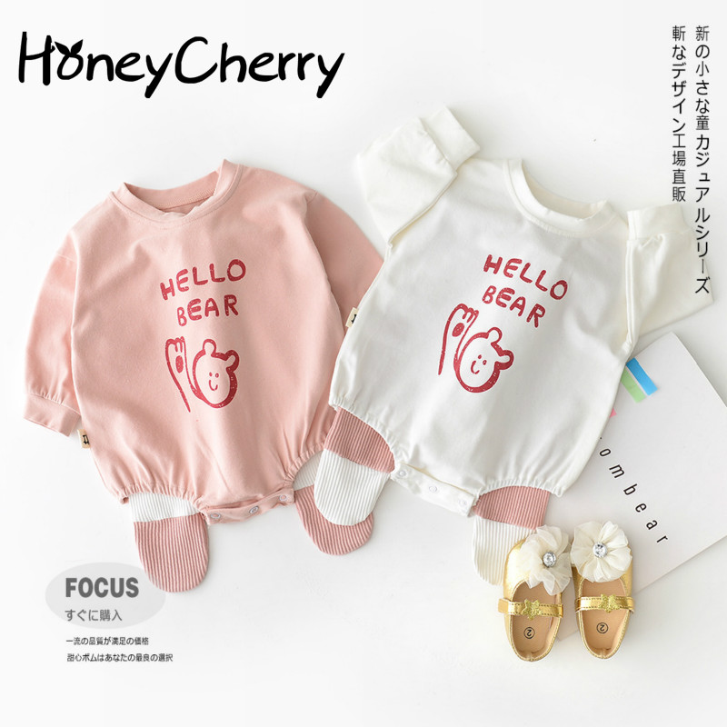 249ae4ce705f0 Detail Feedback Questions about Neonatal Korean Baby Bodysuits Triangle Climbing  Clothes For Male And Female Babies Cotton Printed Bears Baby Girl Clothes  ...