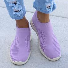 Plus rozmiar 43 trampki damskie tkanina elastyczna skarpetki buty kobieta moda wulkanizacji buty Slip On Tenis Feminino kobiety buty w stylu casual tanie tanio Dla dorosłych Elastycznej tkaniny Slip-on Masz Brak Stałe Płytkie B00673 Lato Pasuje prawda na wymiar weź swój normalny rozmiar