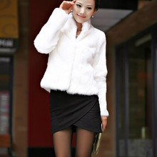 TONFUR Full Pelt Women Real Genuine Natural Rabbit Fur Coat Whole Skin Jackt Big size