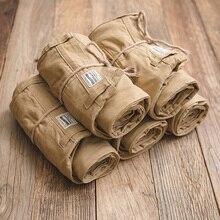 MADEN męski regularny prosty krój płaski przód komfort pracy Khaki spodnie chino