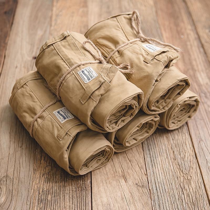 2561.09руб. 30% СКИДКА|Мужские прямые удобные брюки Чино MADEN, цвет хаки|  - AliExpress