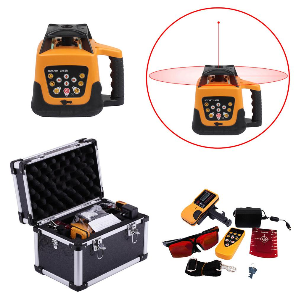 500m Range Automatic Self-Leveling Rotary Rotating Red Beam Laser Level Kit